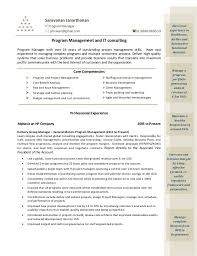It Program Manager Resume Core Competency Resume Eliolera Com