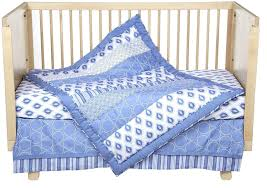 Organic Nursery Bedding Sets by Amazon Com Dena Indigo Crib Set Blue White 4 Piece Baby