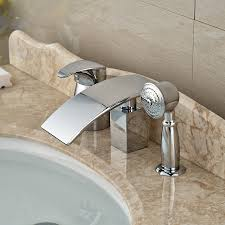 popular tub shower diverter buy cheap tub shower diverter lots wholesale and retail polished chrome deck mounted waterfall bathroom tub faucet ceramic valve diverter mixer tap