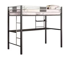 Twin Metal Loft Bed With Desk Amazon Com Dhp Screen Loft Bunk Silver Kitchen U0026 Dining