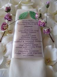 wedding anniversary menu and guest name place setting personalised