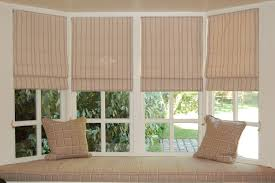 astounding bay window design with blinds and storage plus bay
