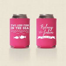personalized wedding koozies two less fish in the sea wedding koozies design 2 wedding favor