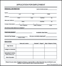 employee application form sample templatezet