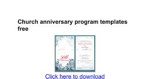 church anniversary program templates free docs