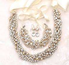 chunky necklace set images Jewellery set chunky pearl necklace bracelet earrings set jpg