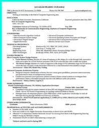 Computer Engineering Resume Examples by Computer Engineering Resume Includes The Skill In The It Field You