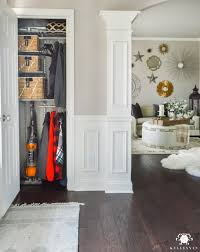Kitchen Before And After Makeovers Organized Foyer Coat Closet Before And After Makeover Kelley Nan