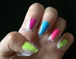 diy neon nail art the modest belle the modest belle