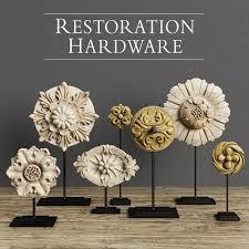 restoration hardware architectural ornaments 3d model max obj fbx mtl