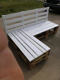 Diy Wooden Outdoor Chairs by Pallet Sectional Bench 1 Bigdiyideas Com Pallet Sectional
