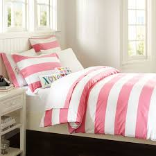 cottage stripe duvet cover sham pbteen