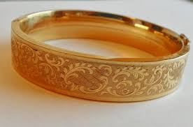 Customized Gold Bracelets 14kt Rolled Gold Bangle Bracelet Germany Engraved Victorian