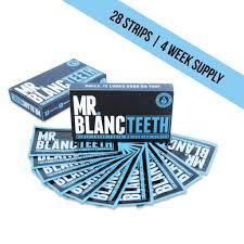 mr blanc teeth whitening non peroxide strips 4 week mrblancteeth