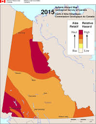 Map Of Canadian Provinces Simplified Seismic Hazard Map For Canada The Provinces And