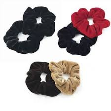bobbles hair 2 x velvet look hair scrunches elastics bobbles hair bands various
