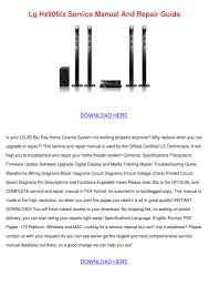 lg 3d blu ray home theater system manual lg hx906tx service manual and repair guide by angelowooten issuu