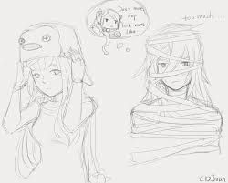 halloween 2 osoro mummy and megami penguin by cdjoan yandere