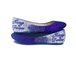 silver flat wedding shoes sparkly blue silver glitter ballet flats wedding bridal