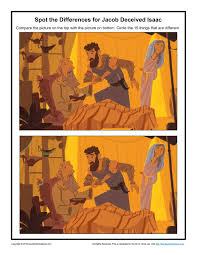 jacob deceived isaac spot the differences children u0027s bible