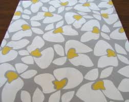 Yellow And Grey Runner Rug Table Runner 12 X 48 Gray Yellow Modern Table Runners Wedding