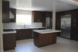Flat Kitchen Cabinets Modern Kitchen Remodel Using Custom Flat Panel Walnut Wood