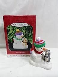 hallmark keepsake ornament snow buddies 3 home kitchen