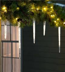 cascading icicle string lights lighting