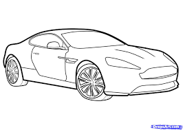 drawn vehicle outline drawing pencil and in color drawn vehicle