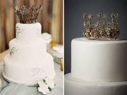 crown cake toppers picture of the newest wedding trend crown cake toppers
