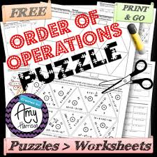 order of operations triangle matching puzzle tpt