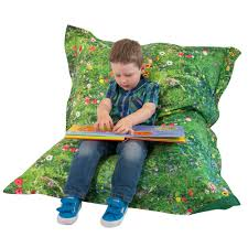 summer meadow childrens bean bag floor cushion eden learning spaces