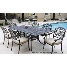 darlee elisabeth cast aluminum patio dining set seats