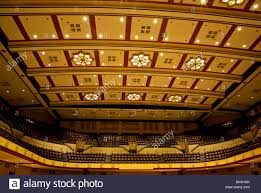 magnificent open span art deco ceiling and upper balcony seating