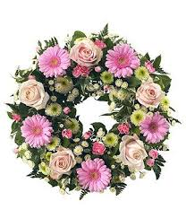 pink wreath tribute