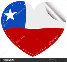 Chile Santiago Flag Chile Flag In Heart Shape U2014 Stock Vector Interactimages 149832418