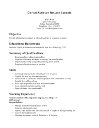 Sle Of A Resume Objective by Clerical Resume Objective Free Resume Exle And Writing