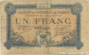 chambre des commerces tarbes 1 franc regionalism and miscellaneous tarbes 1919 jp 120 22