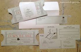ticket wedding invitations vintage tickets cinema ballroom papercake designs