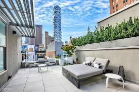 minimalist tribeca penthouse with tons of outdoor space asks 8m