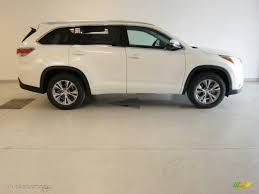 toyota highlander 2015 2015 blizzard pearl white toyota highlander xle 99173309 photo