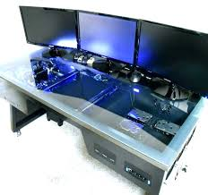 Computer Desk Built In Computer Desk Built In Diy Gaming Desks Into Amazing Project Java