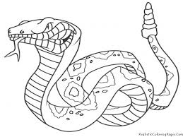 printable 48 realistic animal coloring pages 3613 snake coloring