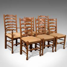 Antique Oak Ladder Back Chairs Dining Chairs Oak England Victorian The Uk U0027s Premier Antiques