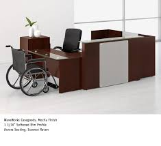 Ada Reception Desk National Office Furniture Waveworks Ada Reception Casegoods
