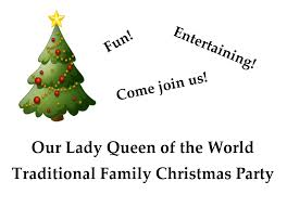 annual parish christmas party 2016 u2013 our lady queen of the world