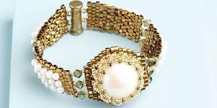 diy pearl bead bracelet images Pearl beading 6 free handmade pearl jewelry designs and expert jpg