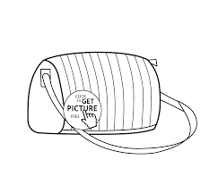 fashion bag coloring page for girls printable free coloing