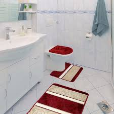 3 Piece Bathroom Rug Set by Scroll 3 Piece Bathroom Rug Set Bath Rug Contour Rug Lid Cover