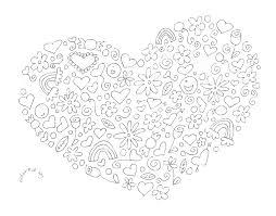 mandala coloring hearts mandalas print